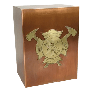 Fireman Copper Cremation Urn