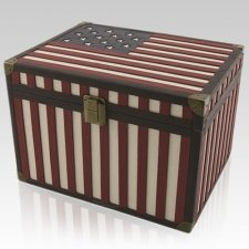Flag Chest Cremation Urn