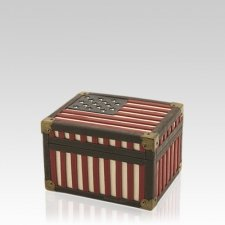 Flag Chest Keepsake Cremation Urn