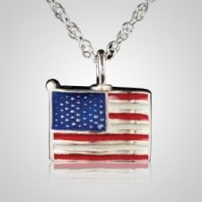 Flag Cremation Pendant