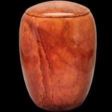 Flaming Stone Cremation Urn