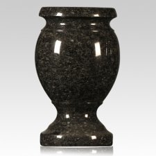 Flash Black Granite Vase