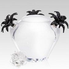 Fleur Blanc Glass Cremation Urn