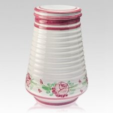 Flora Ceramic Cremation Urns