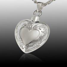 Flora Heart Cremation Pendant