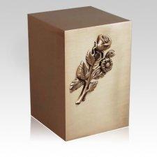 Floral Bronze Cremation Urn