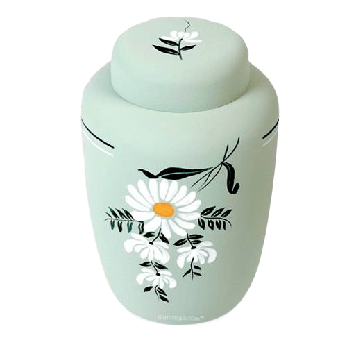 Floral Cornstarch Biodegradable Urn