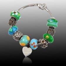 Floral Heart Cremation Bracelet