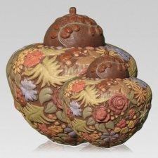 Floral Pet Cremation Urns
