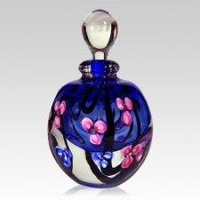 Floral with Blue Keepsake Urn