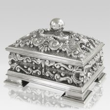 Florid Silver Cremation Urn