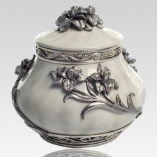 Flower Pewter Keepsake Cremation Urn
