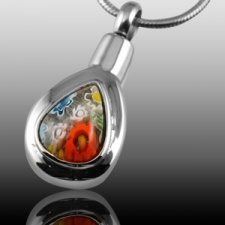 Colorful Flowers Cremation Pendant