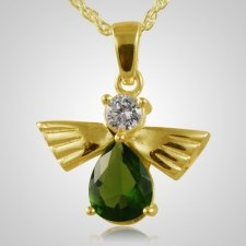 Flying Angel Emerald Cremation Pendant II