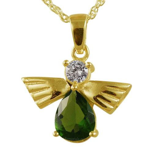 Flying Angel Emerald Cremation Pendant IV