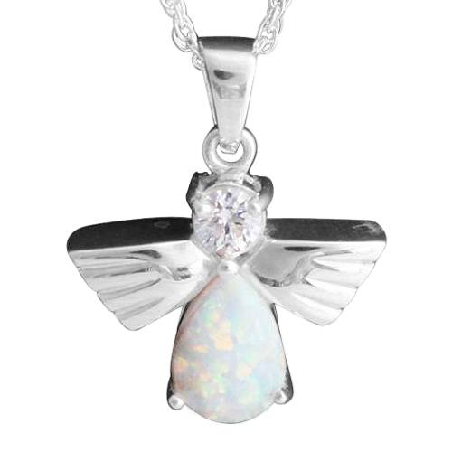 Flying Angel Opal Cremation Pendant III