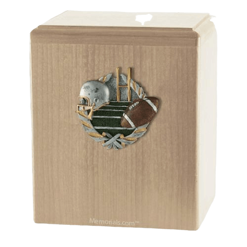 Foot Ball Maple Cremation Urn