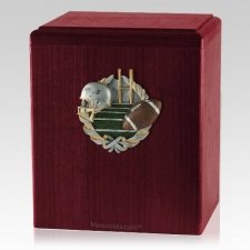 Foot Ball Rosewood Cremation Urn