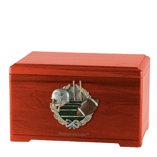 Football Fan Cherry Cremation Urn