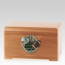 Football Fan Light Cherry Cremation Urn