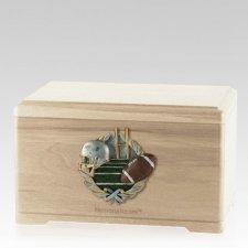 Football Fan Maple Cremation Urn