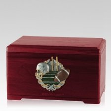 Football Fan Rosewood Cremation Urn