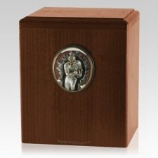 Football Player Walnut Cremation Urn