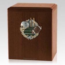 Foot Ball Walnut Cremation Urn