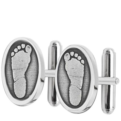 Footprint Cuff Links