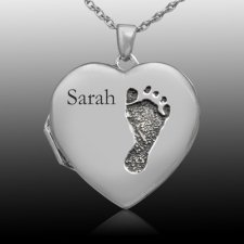 Footprint Locket Keepsakes