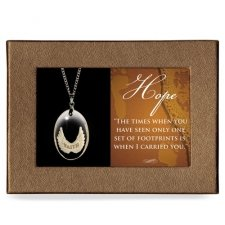 Footprints Gift Boxed Angel Pendant