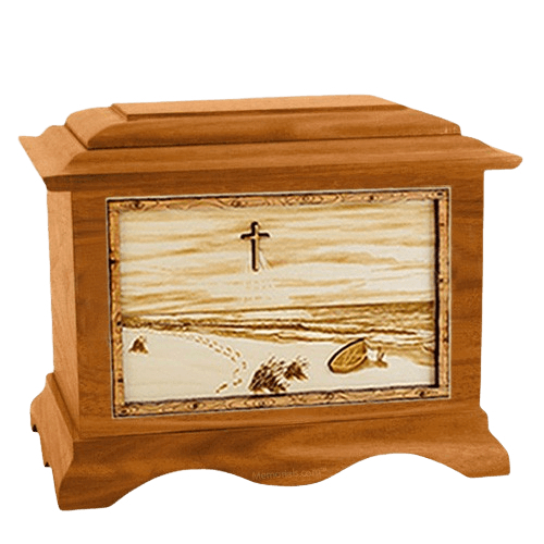 Footprints Mahogany Cremation Urn