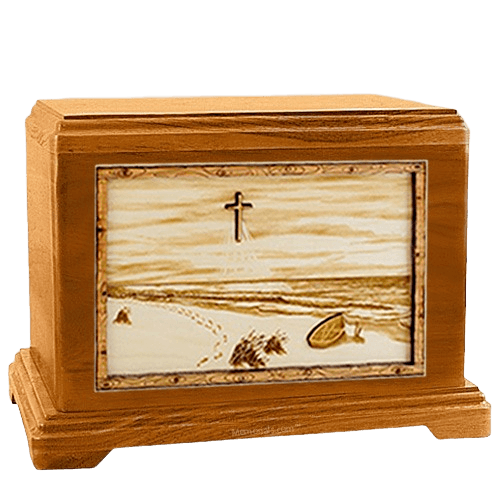 Footprints Mahogany Hampton Cremation Urn