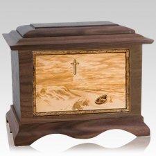Footprints Wood Cremation Urns