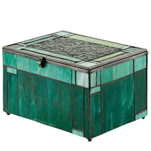 Forest Glass Cremation Urn