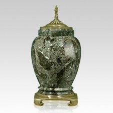 Forest Gold Tone Marble Urn