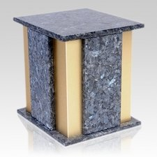 Foresta Blue Pearl Granite Cremation Urn