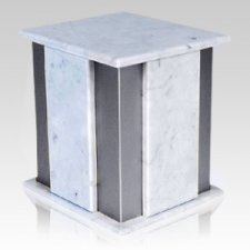 Foresta Silver Bianco Marble Urn