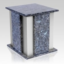 Foresta Silver Blue Pearl Granite Urn