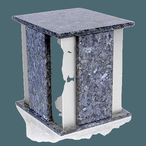 Foresta Silver Blue Pearl Granite Urn