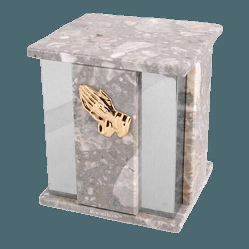 Foresta Grey Stone Silver Marble Urn