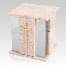 Foresta Silver Perlato Marble Urn