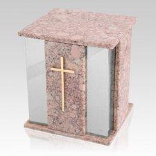 Foresta Silver Redish Stone Marble Urn