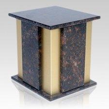 Foresta Tan Brown Granite Cremation Urn
