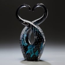 Forever Black Cremation Ash Sculpture