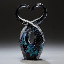 Forever Black Cremation Ash Sculpture