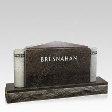 Forever Ivy Companion Granite Headstone