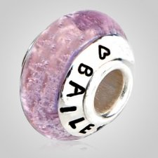 Forever Pink Cremation Ash Bead