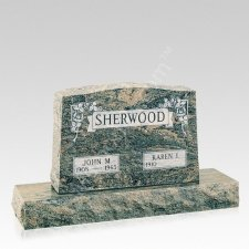 Forever Rose Companion Granite Headstone