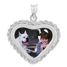 Forever White Gold Photo Pendant